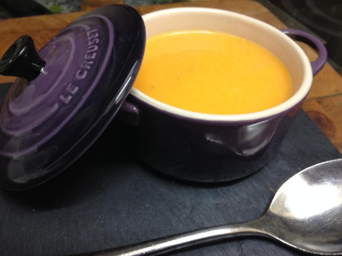 Crema de calabaza, naranja, zanahoria y jengibre